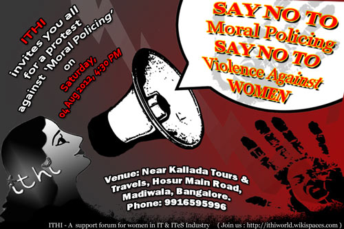 protest against violence against women in IT/ITES industry
